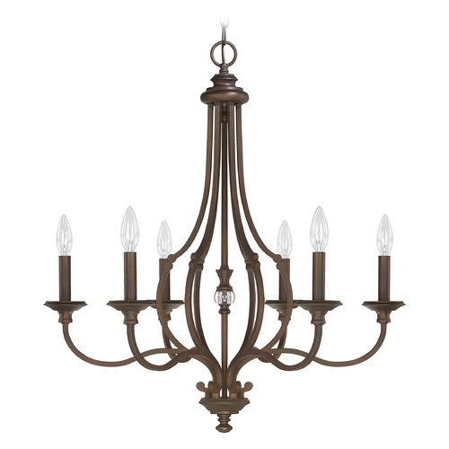 Capital Lighting Capital Lighting Leigh Burnished Bronze Crystal Chandelier 4706BB-000