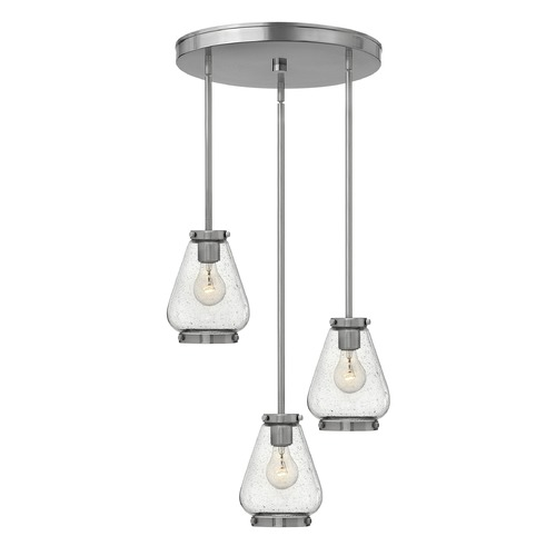 Hinkley Lighting Hinkley Lighting Finley Brushed Nickel Mini-Pendant Light with Urn Shade 3688BN