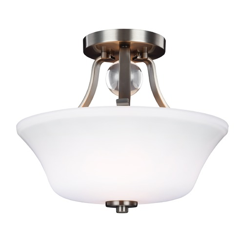 Feiss Lighting Feiss Lighting Evington Satin Nickel Semi-Flushmount Light SF334SN