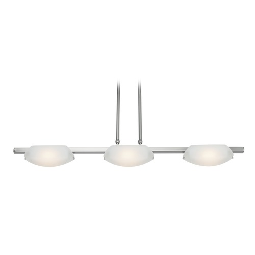 Access Lighting Access Lighting Nido Matte Chrome Island Light with Bowl / Dome Shade 63957LEDD-MC/FST