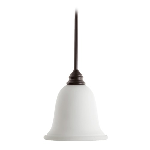 Quorum Lighting Quorum Lighting Bryant Oiled Bronze Mini-Pendant Light with Bell Shade 3154-186