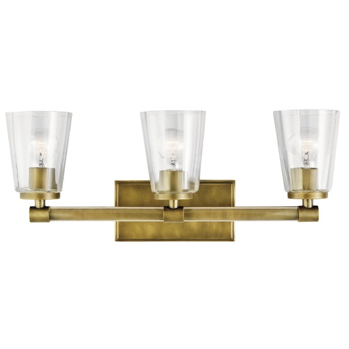 Kichler Lighting Transitional Bathroom Light Natural Brass Audrea by Kichler Lighting 45868NBR