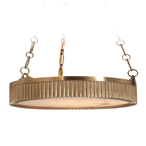 Hudson Valley Lighting Drum Pendant Light in Aged Brass Finish 522-AGB