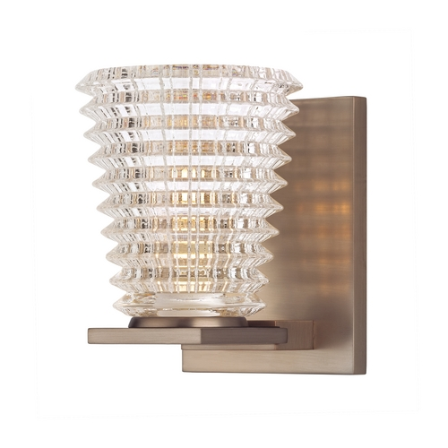 Hudson Valley Lighting Sconce Light with Clear Glass in Brushed Bronze Finish 4471-BB