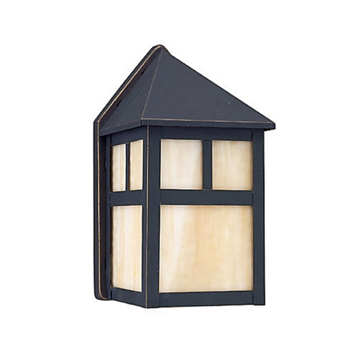 Sea Gull Lighting Outdoor Wall Light with Beige / Cream Glass in Antique Bronze Finish 89015BLE-71