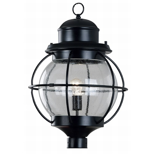 Kenroy Home Lighting Post Light with Clear Glass in Black Finish 90967BL