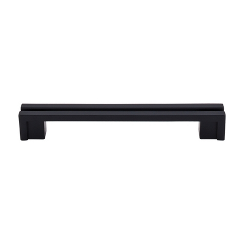 Top Knobs Hardware Modern Cabinet Pull in Flat Black Finish TK56BLK