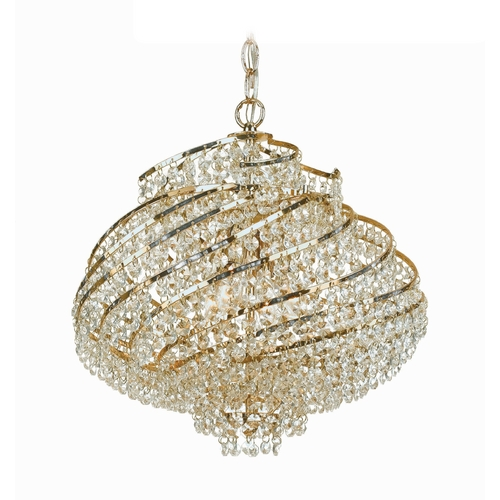 AF Lighting Swag Lamp in Brass Finish 7742-4H
