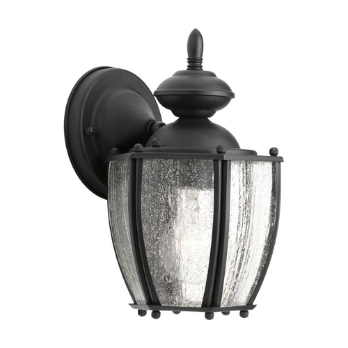 Progress Lighting Outdoor Wall Light with Clear Glass in Black Finish P5762-31