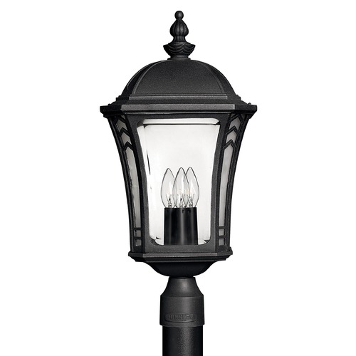 Hinkley Lighting Post Light with Clear Glass in Museum Black Finish 1331MB