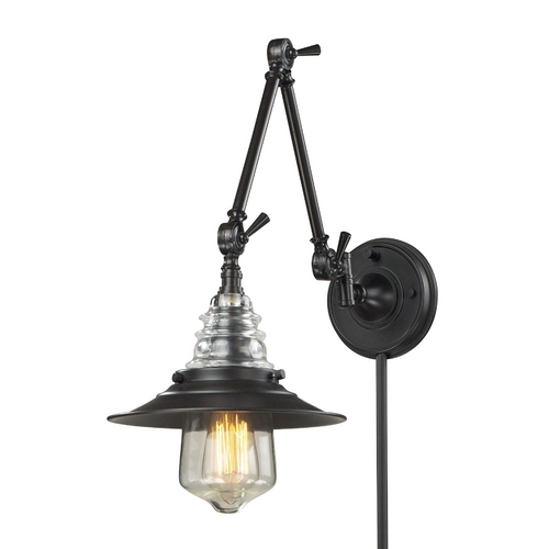 Elk Lighting Swing Arm Lamp in Oiled Bronze Finish 66816-1