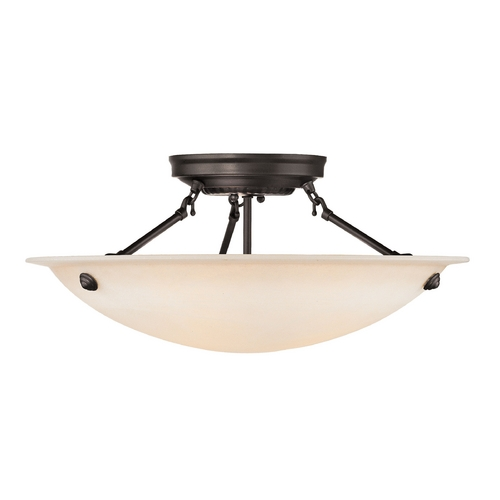 Livex Lighting Livex Lighting Oasis Bronze Semi-Flushmount Light 5626-07