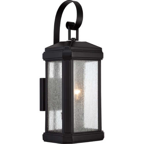 Quoizel Lighting Quoizel Trumbull Mystic Black Outdoor Wall Light TML8408K