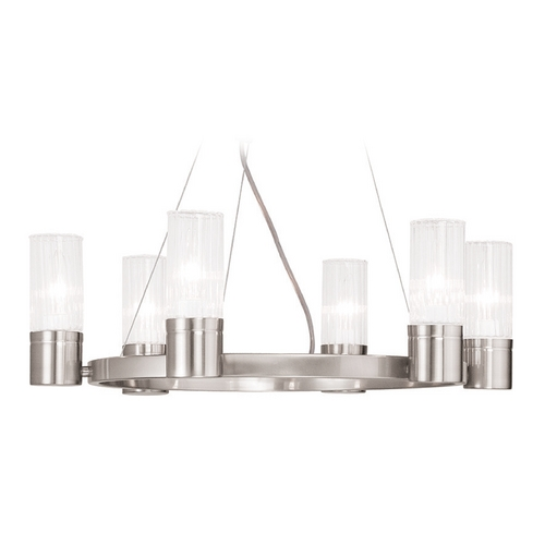 Livex Lighting Livex Lighting Midtown Brushed Nickel Chandelier 50696-91