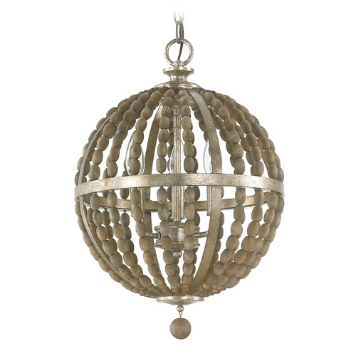 Capital Lighting Capital Lighting Lowell Tuscan Bronze with Wood Beads Pendant Light 4793TZ