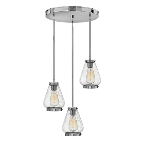 Hinkley Lighting Hinkley Lighting Finley Chrome Mini-Pendant Light with Urn Shade 3688CM