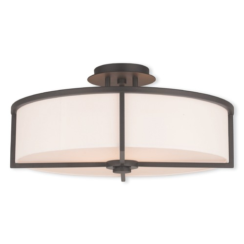 Livex Lighting Livex Lighting Wesley Bronze Semi-Flushmount Light 51075-07