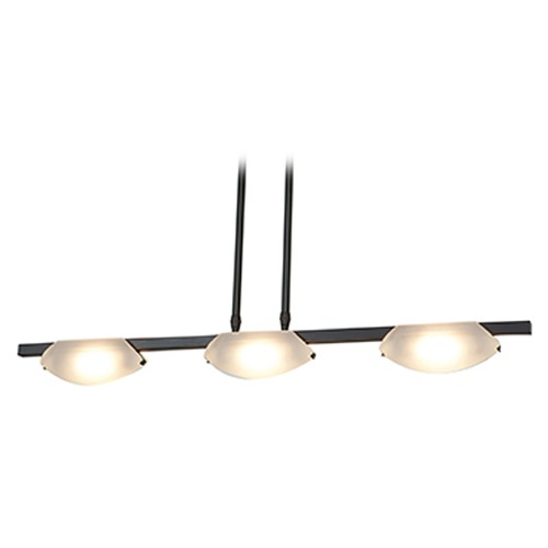 Access Lighting Access Lighting Nido Oil Rubbed Bronze Island Light with Bowl / Dome Shade 63957LEDD-ORB/FST