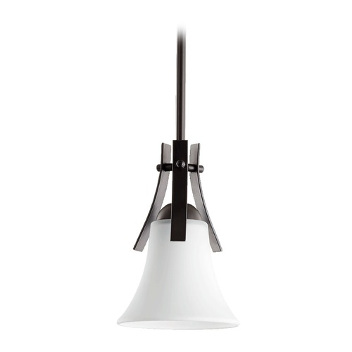 Quorum Lighting Quorum Lighting Aspen Oiled Bronze Mini-Pendant Light with Bowl / Dome Shade 3177-186