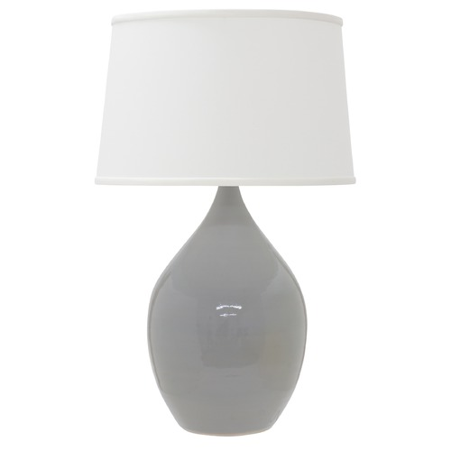 House of Troy Lighting House Of Troy Scatchard Gray Gloss Table Lamp with Empire Shade GS402-GG