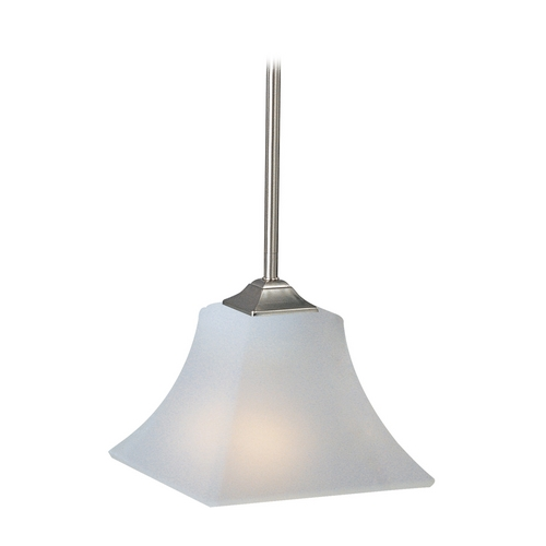 Maxim Lighting Modern Mini-Pendant Light with White Glass 92090FTSN