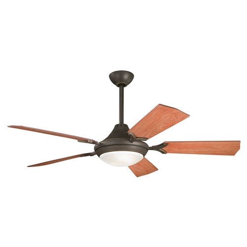 Kichler Lighting Kichler Ceiling Fan with Light Kit in Bronze Finish 300019OZ