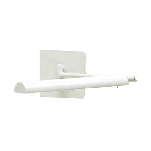 House of Troy Lighting Modern LED Swing Arm Lamp in White Finish G375-WT