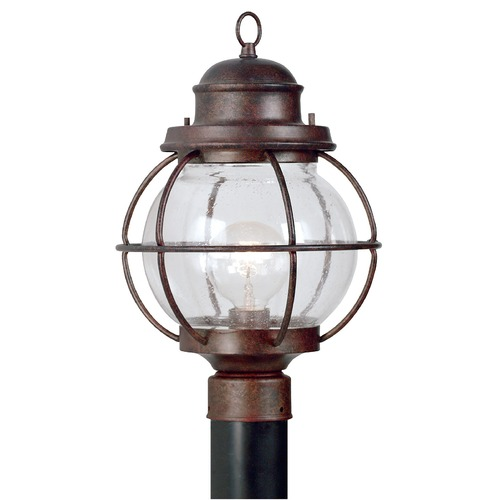 Kenroy Home Lighting Post Light with Clear Glass in Gilded Copper Finish 90967GC