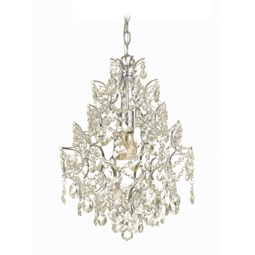AF Lighting Swag Chandelier with Clear Crystal Teardrops 7743-1H
