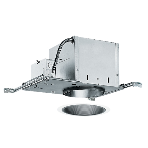 Juno Lighting Group 6-inch Recessed Lighting Kit with Black Trim IC2/25B-WH