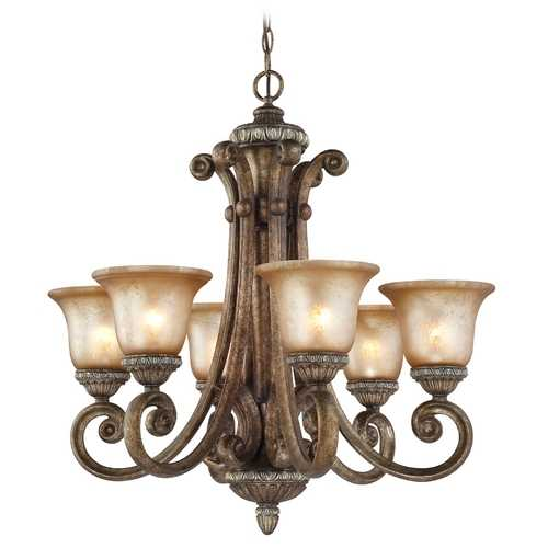 Dolan Designs Lighting Six-Light Chandelier with Decorative Scrolls  2400-162