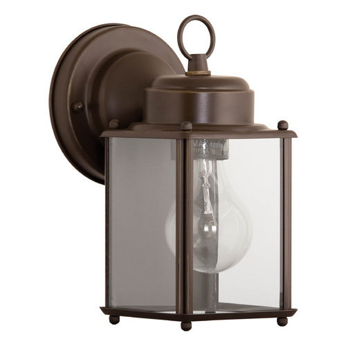 Progress Lighting Outdoor Wall Light with Clear Glass in Antique Bronze Finish P5607-20
