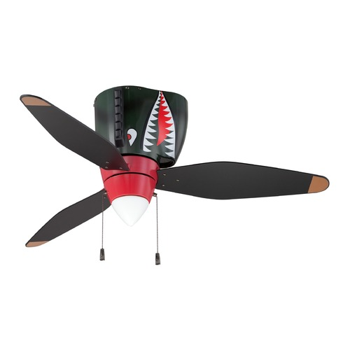 Craftmade Lighting Craftmade Lighting Warplanes Tiger Shark Ceiling Fan with Light WB348TS3