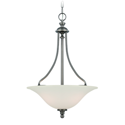 Craftmade Lighting Craftmade Willow Park Antique Nickel Pendant Light with Bowl / Dome Shade 28543-AN