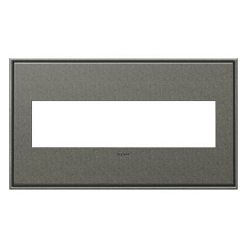 Legrand Adorne Legrand Adorne Brushed Pewter 4-Gang Switch Plate AWC4GBP4