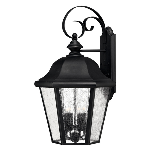 Hinkley Lighting LED Outdoor Wall Light with Clear Glass in Black Finish 1675BK-LED