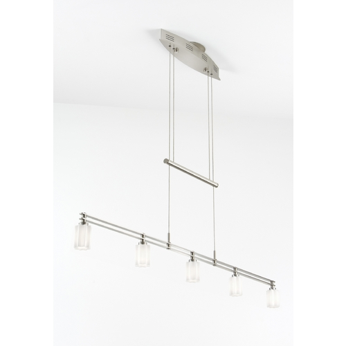 Holtkoetter Lighting Holtkoetter Modern Low Voltage Pendant Light with White Glass in Satin Nickel Finish 5515 SN G5014
