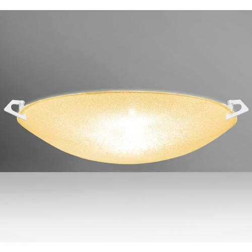 Besa Lighting Besa Lighting Sonya White Flushmount Light 8418GD-WH