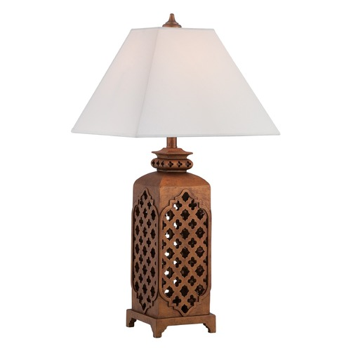 Lite Source Lighting Lite Source Misha Dark Bronze Table Lamp with Square Shade C41323