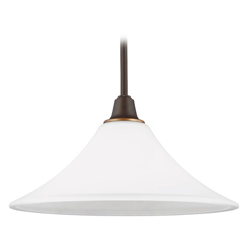 Sea Gull Lighting Sea Gull Lighting Metcalf Autumn Bronze Pendant Light with Coolie Shade 6513201-715