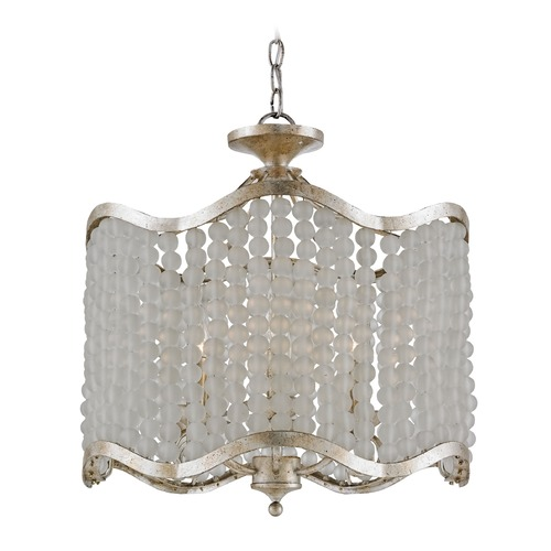 Currey and Company Lighting Currey and Company Chanson Silver Granello Pendant Light 9852