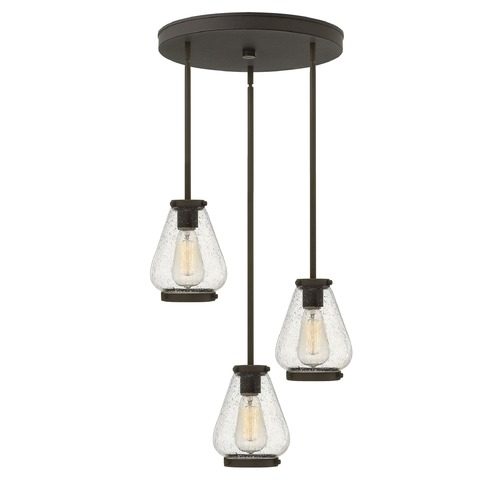 Hinkley Lighting Hinkley Lighting Finley Oil Rubbed Bronze Mini-Pendant Light with Urn Shade 3688OZ
