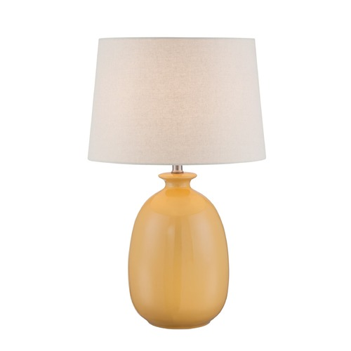 Lite Source Lighting Lite Source Valora Harvest Yellow Table Lamp with Drum Shade LS-22883H/YLW