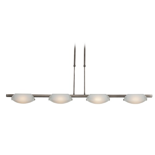Access Lighting Access Lighting Nido Matte Chrome Island Light with Bowl / Dome Shade 63958LEDD-MC/FST