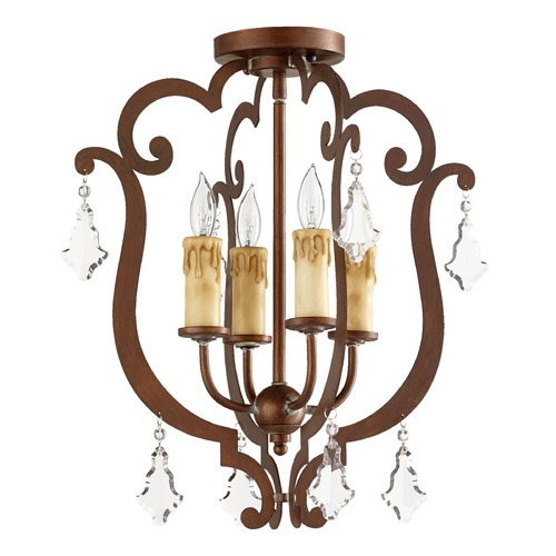 Quorum Lighting Quorum Lighting Montgomery Vintage Copper Semi-Flushmount Light 319-4-39