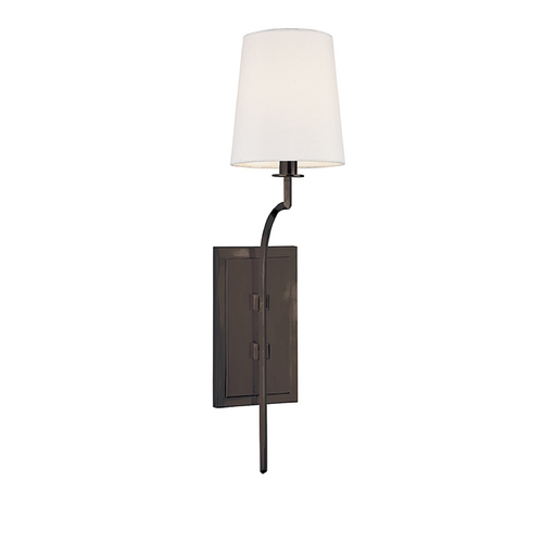 Hudson Valley Lighting Sconce Wall Light with White Shade in Old Bronze Finish 3111-OB