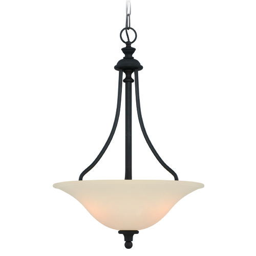 Jeremiah Lighting Jeremiah Willow Park Gothic Bronze Pendant Light with Bowl / Dome Shade 28543-GB