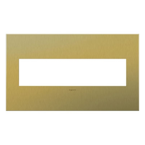 Legrand Adorne Legrand Adorne Brushed Brass 4-Gang Switch Plate AWC4GBB4