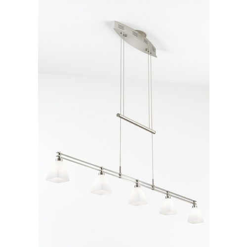 Holtkoetter Lighting Holtkoetter Modern Low Voltage Pendant Light with White Glass in Satin Nickel Finish 5515 SN G5015