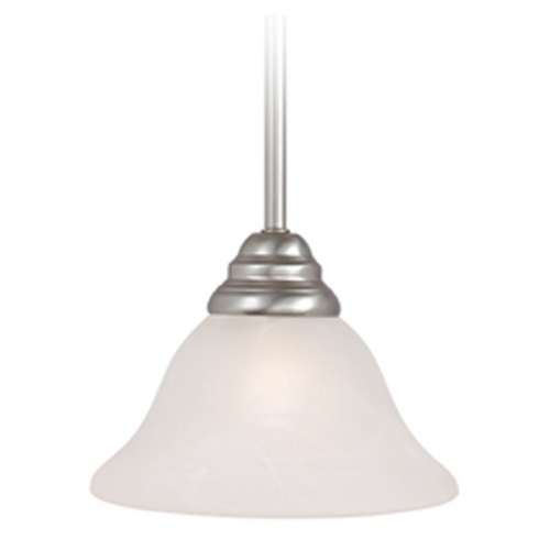 Livex Lighting Livex Lighting Coronado Brushed Nickel Mini-Pendant Light with Bell Shade 6110-91